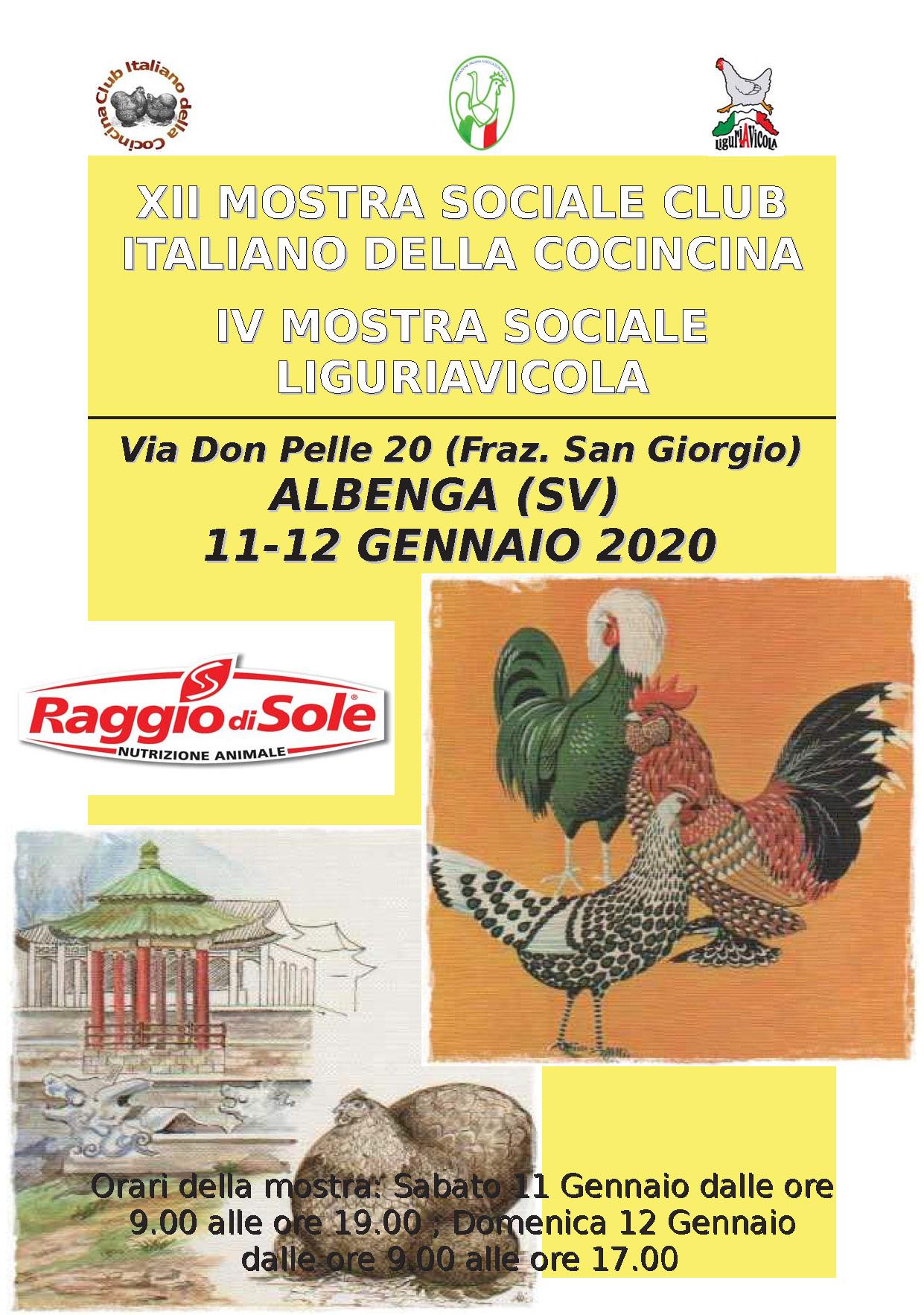 Mostra Sociale LIGURIAVICOLA 11.01.2020
